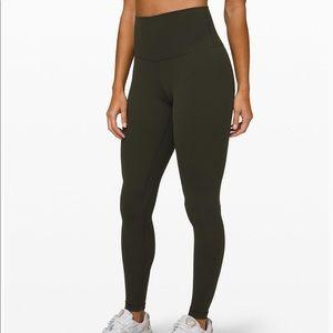 """NWT Lululemon Align Pant 28"""" Dark Olive Size 4"""